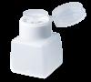 Væskebeholder med integreret plastlåg